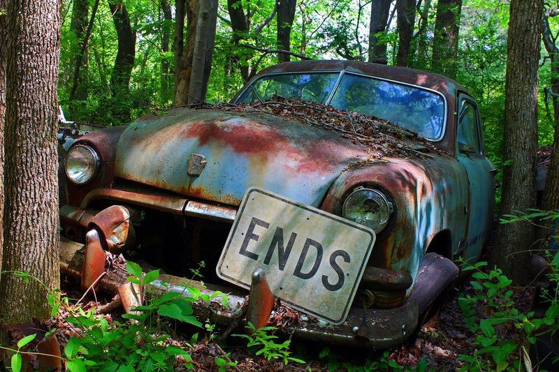 End of the Line Damaged Rusty Obsolete Abandoned Bad Condition Car Transportation Run-down Weathered Metal Headlight Tree Deterioration Mode Of Transport Old Forest Day Land Vehicle Green Color Rotting Vintage Retro Junkyard Rust Rustic The Street Photographer - 2017 EyeEm Awards BYOPaper! Breathing Space