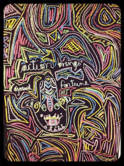 Action brings good fortune ✌️✌️✌️ Psycho Pink Floyd Wall Draw