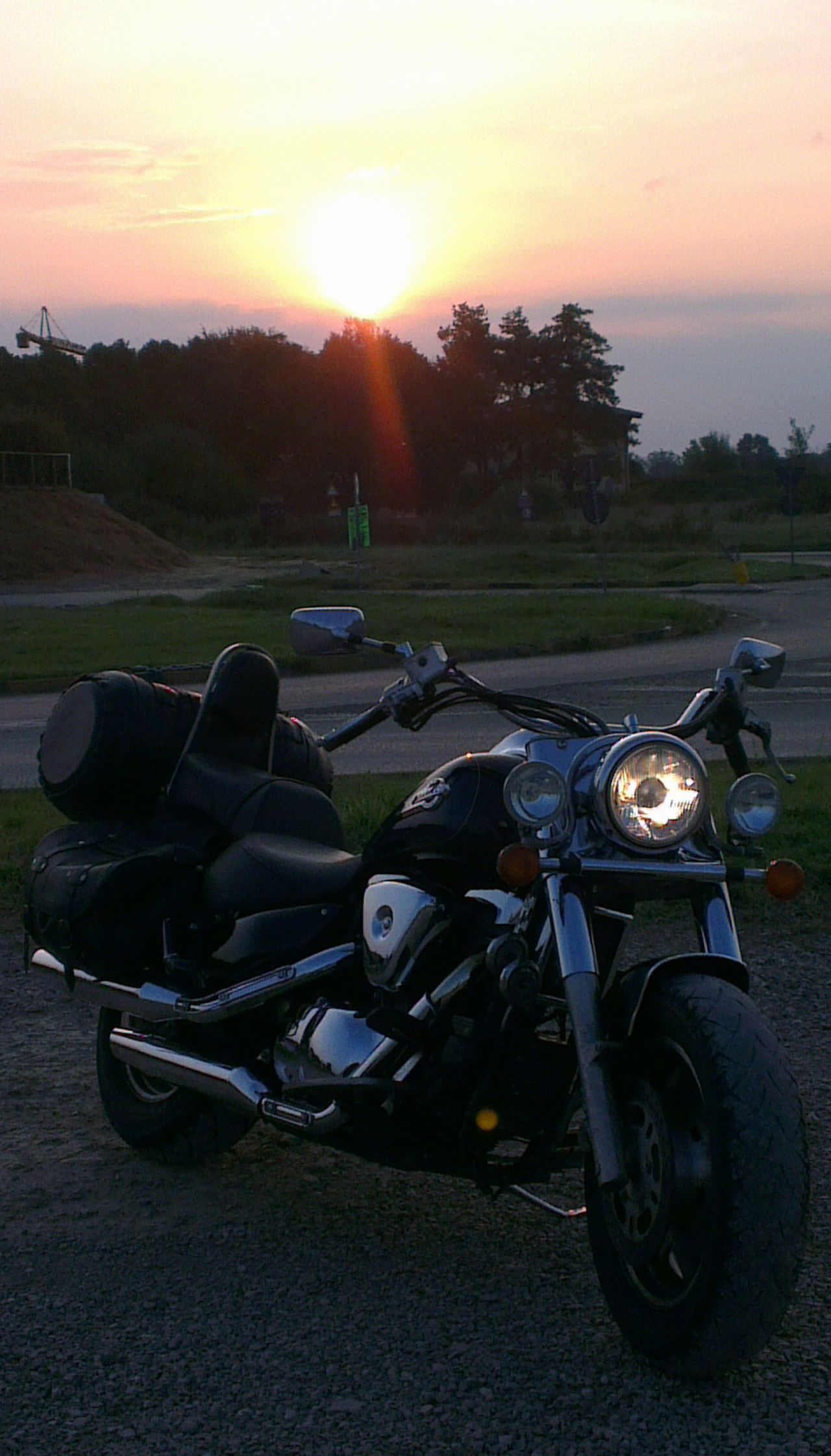Partenza per il mare in moto, come sempre ad orari disumani! Bike Life On The Road Bikers Foto Italiane