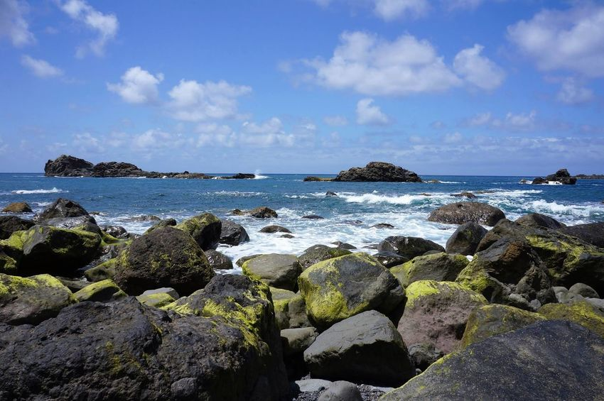 Sea Beach Rock - Object Blue Horizon Over Water Sky Nature Outdoors Vacations Day Water No People Scenics Wave Tenerife