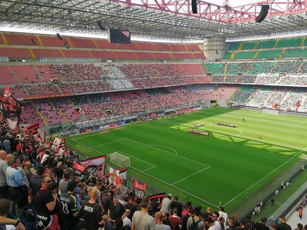 Any given sunday Any Given Sunday Architecture Audience Curva Sud Day Football Grass Huawei P10 Human Large Group Of People Men Mi Milan Pattern People Playing Red And Black Smartphone Photography Soccer Spectator Sport Sports Team Stadium Traditions