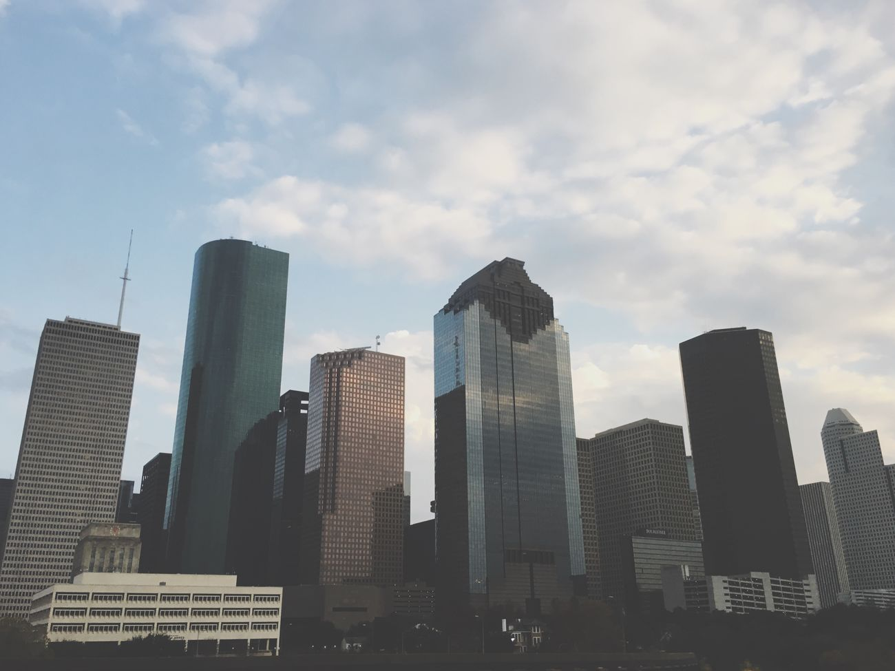 Houston City Downtown Buildings Tall High No People Tower Cloud - Sky Sky Low Angle View