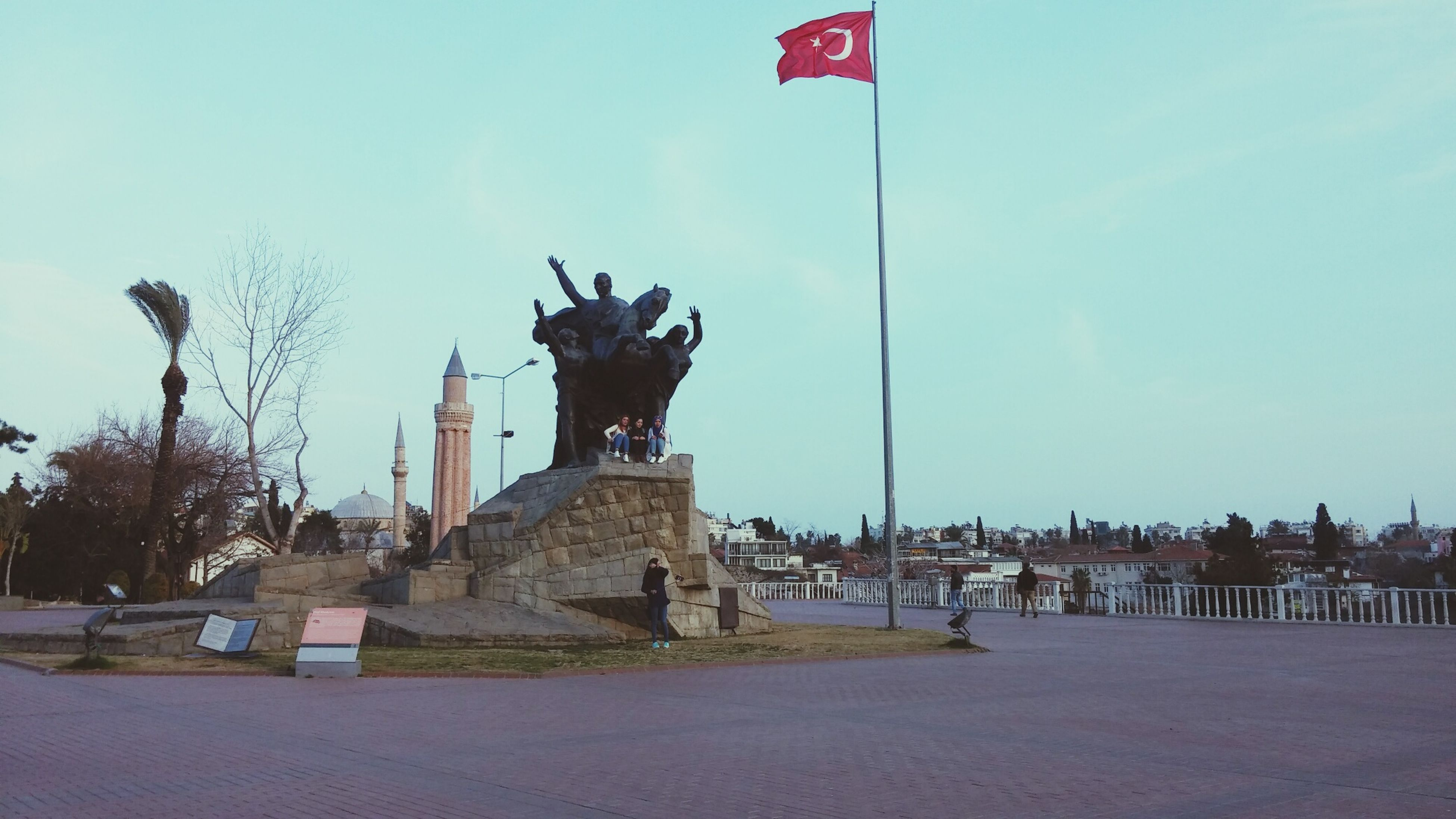 Antalya City 2017 Turkey Yivliminare Atatürk Heykeli