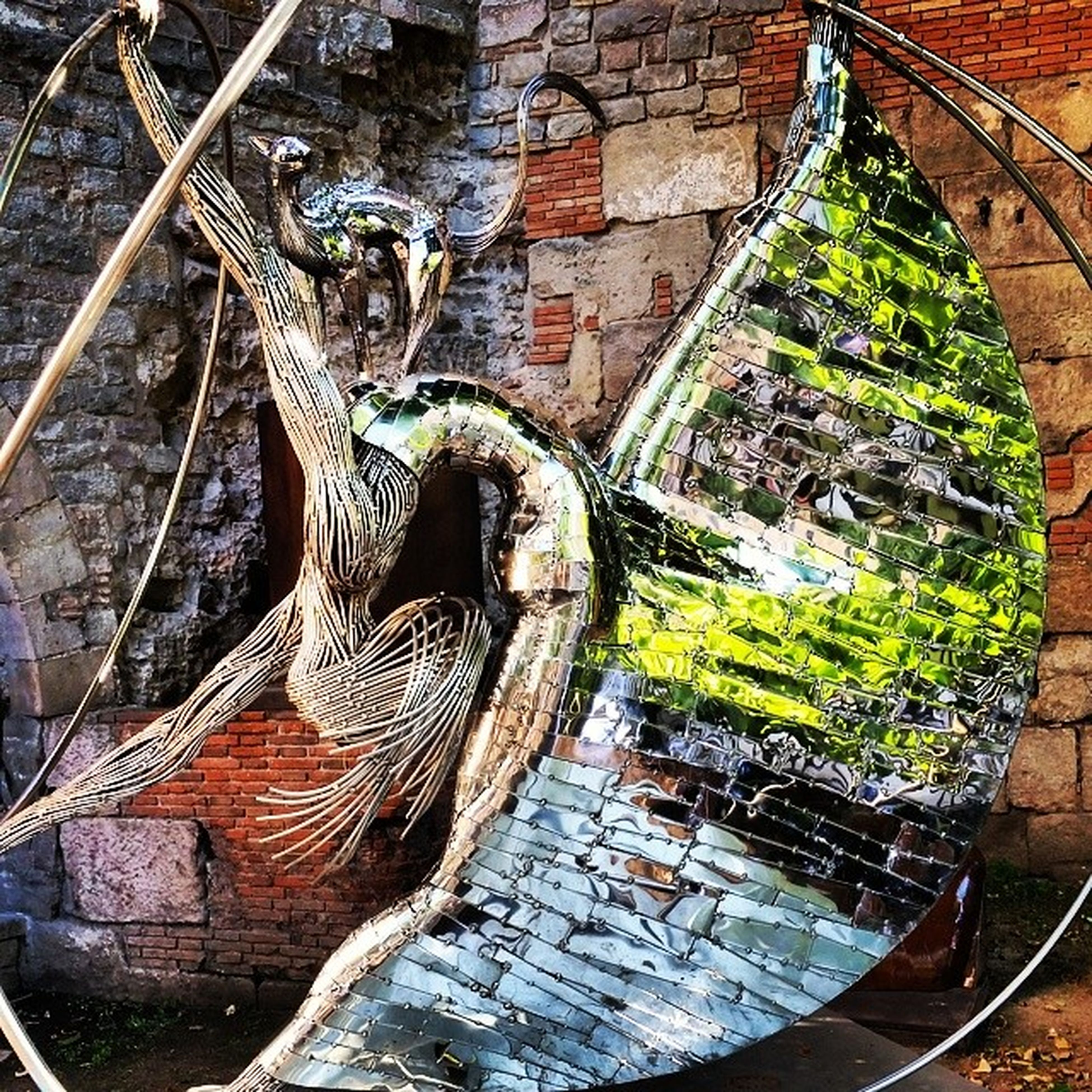 architecture, built structure, brick wall, building exterior, wall - building feature, stone wall, old, plant, outdoors, day, no people, abandoned, growth, ivy, pattern, wall, weathered, damaged, close-up, high angle view
