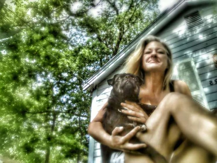 Low Angle View Outdoors Happiness Real People One Person Women Nature Adult Petlovers Pet Life  Pet Photography  Pet Love Dogs Of EyeEm Doglover Dog Photography Kansasoutdoors Kansasphotographer Kansas First Eyeem Photo EyeEmNewHere Day One Animal