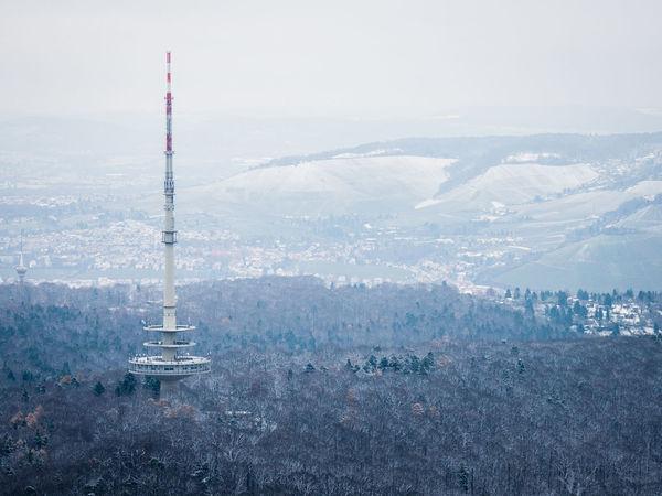 Hills Stuttgart Winter Wintertime Communication Day Fernmeldeturm Germany Mountain Snow Woods