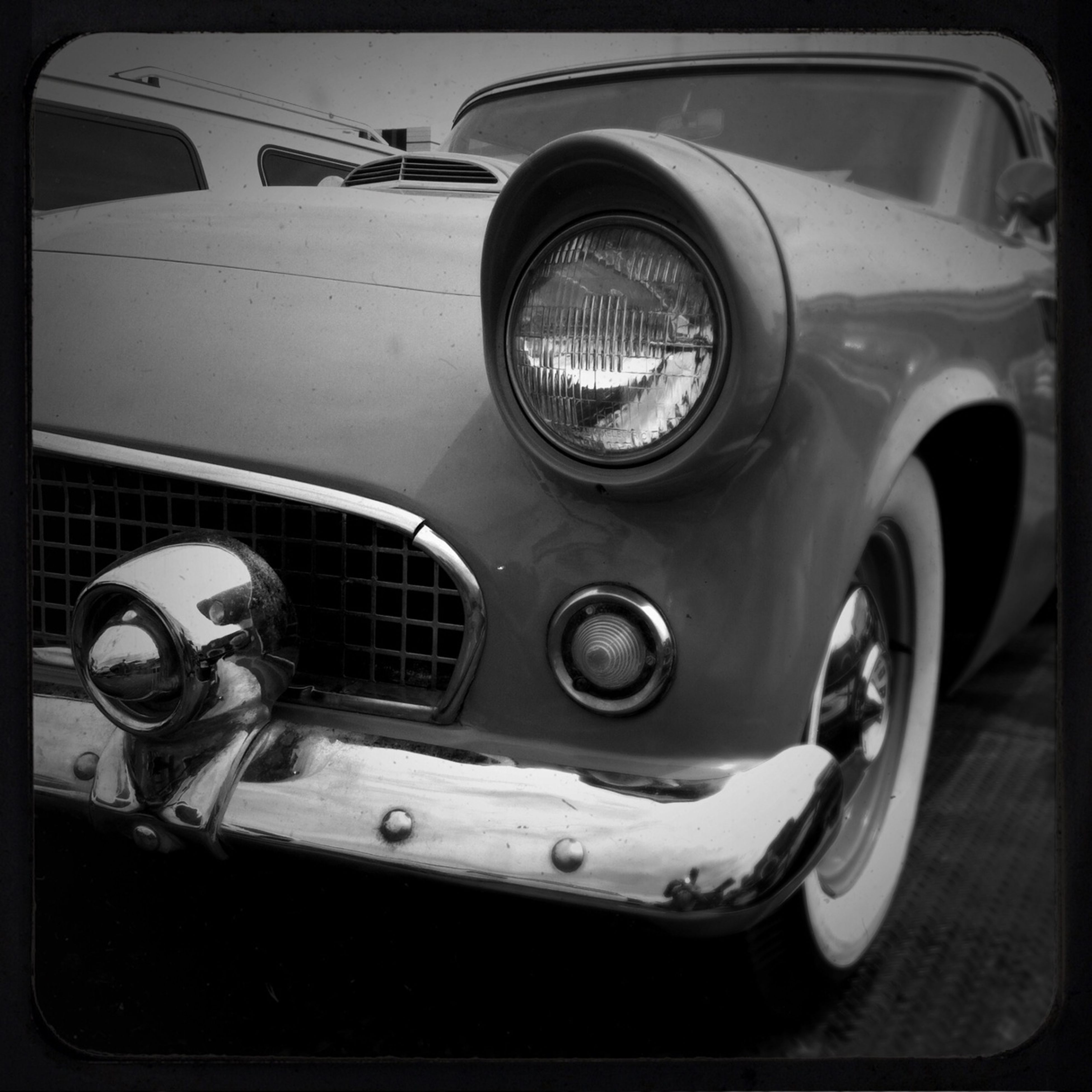 transportation, mode of transport, land vehicle, car, retro styled, old-fashioned, headlight, vintage car, close-up, vehicle part, car interior, technology, stationary, travel, part of, vehicle interior, side-view mirror, dashboard, vintage, reflection