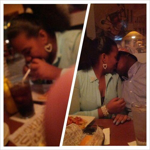 Me & My Baby On My Birthday Dinner