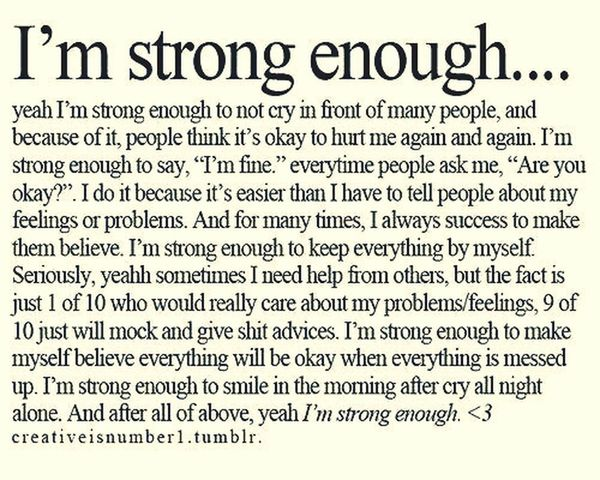 Feelings .. Stay Strong Strong Enough To Smile Don't Worry, Be Happy