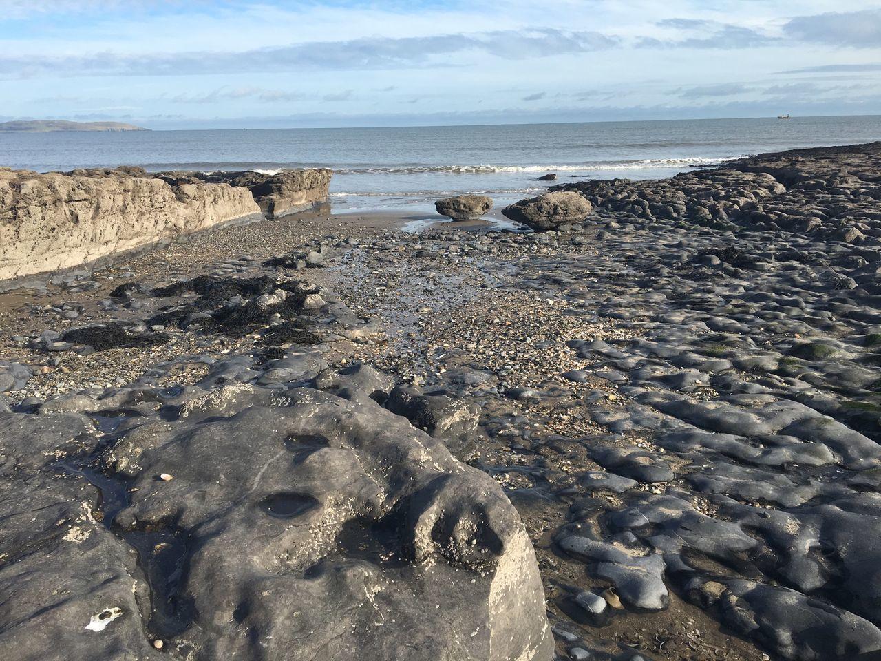 Beach Rocks Ireland Malahide  Fingal Geology Natural Pattern Nature Land Meets Sea Sea Island Sea And Sky