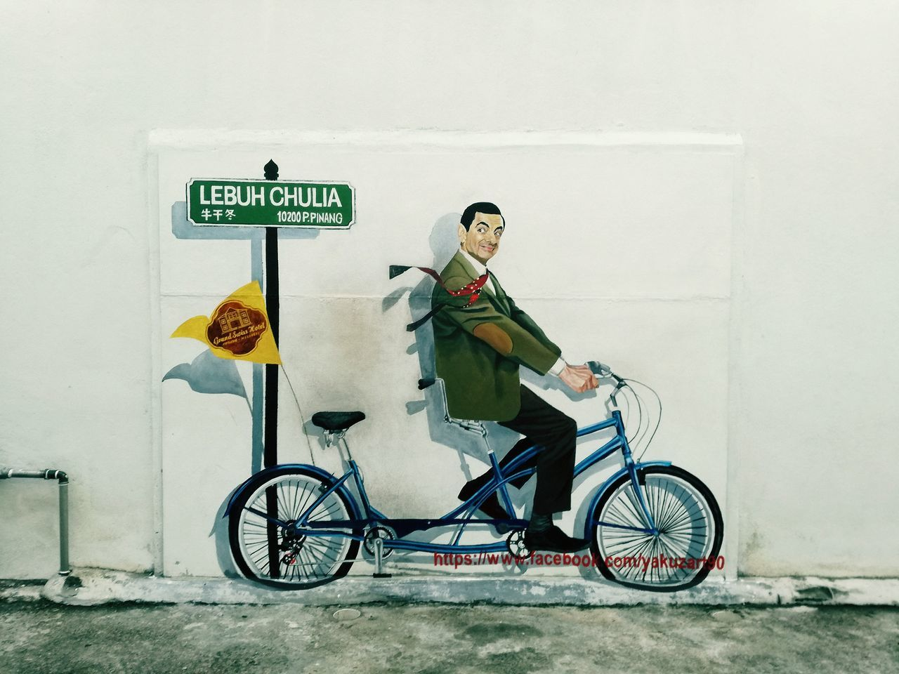 bicycle, transportation, mode of transport, full length, day, real people, outdoors, one person, road sign, architecture, people