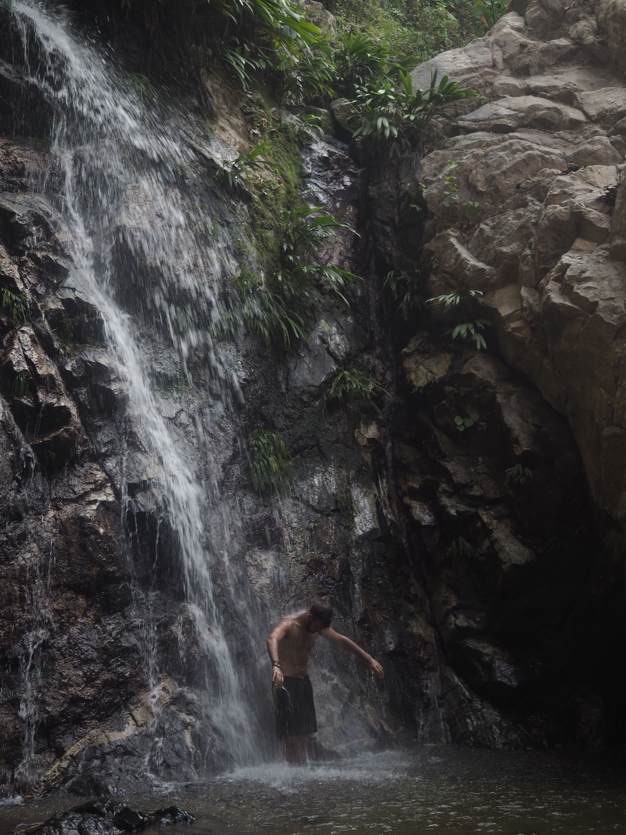 Beauty In Nature Hiking Mountains Nature Non-urban Scene Outdoors Rock Formation Scenics Water Waterfall
