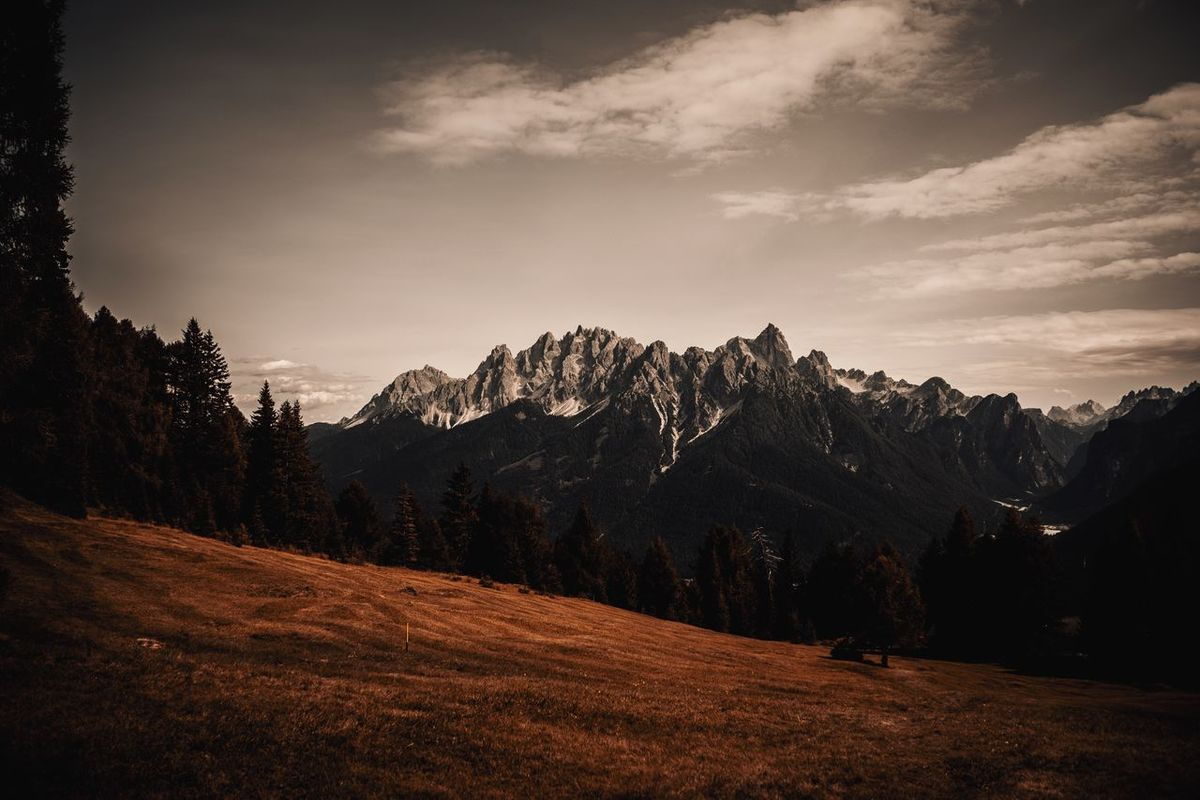 Mountain Sky Nature Landscape Peak Snow No People Beauty In Nature Scenery Outdoors Tree Range Day EyeEm Selects The Week On EyeEm Italy South Tyrol Autumn