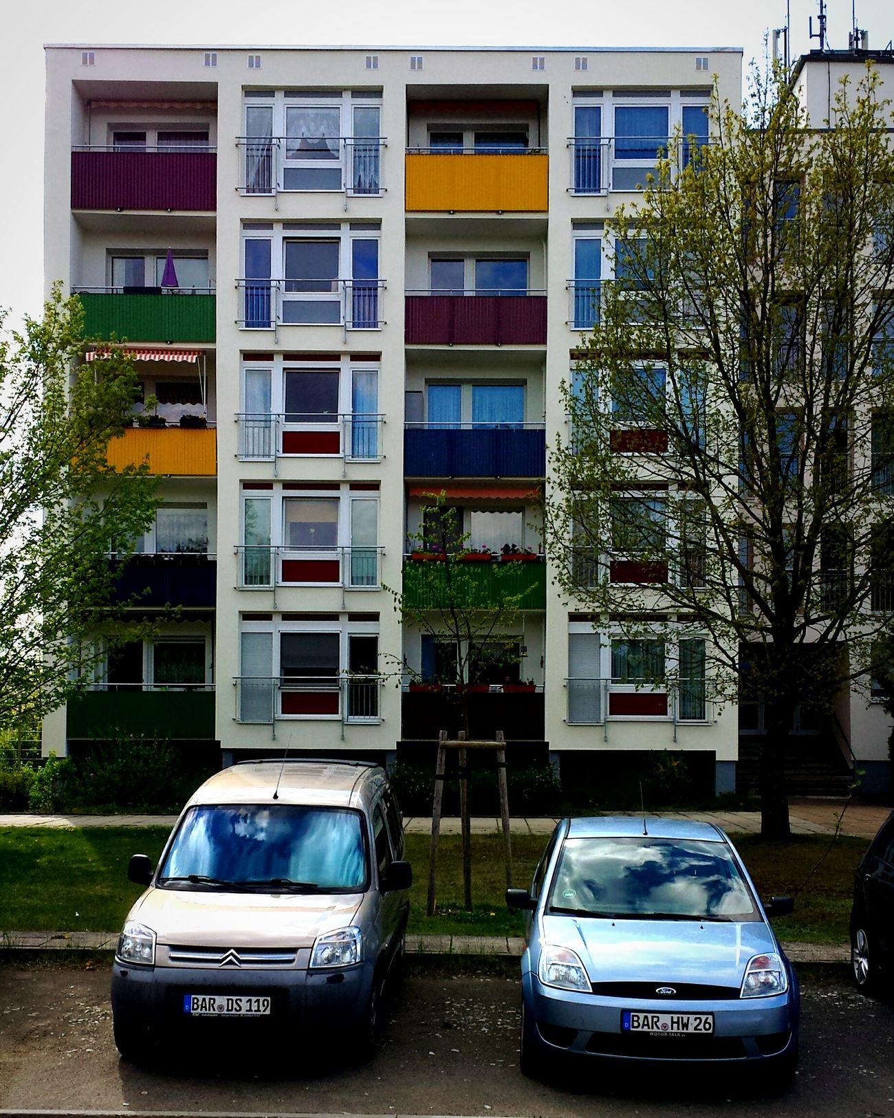 Tenements Eberswalde Eastgermany Colors