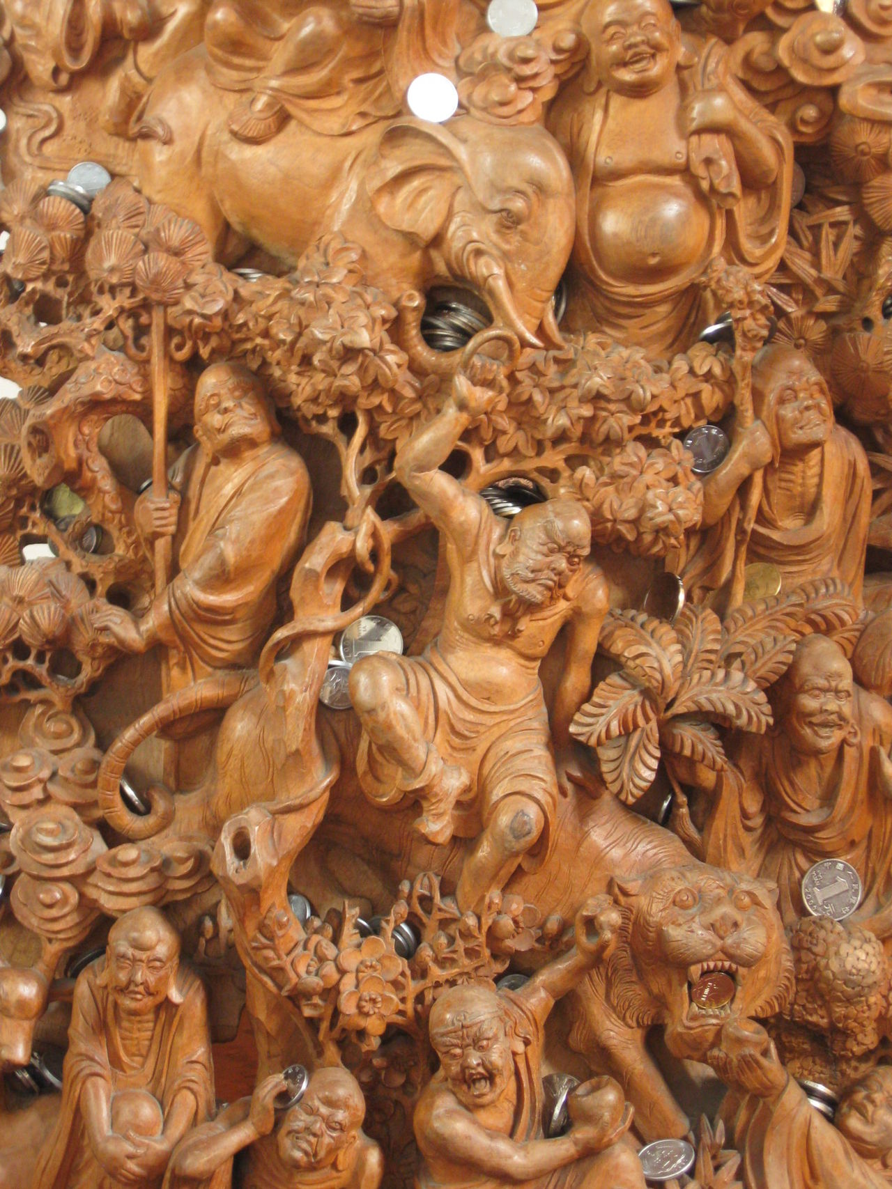 Religion Art And Craft Ornate Tradition Cultures No People Full Frame Spirituality Statue Indoors  Close-up Day Beijing China Charm Lucky Wish Wood Wood Art ArtWork