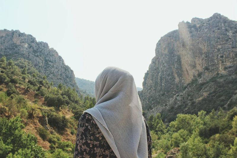 The Week On EyeEm Nature Mountain Tranquility Day Scenics Vacations Mountain Range One Person Beauty In Nature Outdoors Tree People Algeria Hijab Sky Adventure Summer Muslim Woman Travel Mix Yourself A Good Time Done That. Lost In The Landscape Be. Ready. EyeEm Ready   Fashion Stories An Eye For Travel