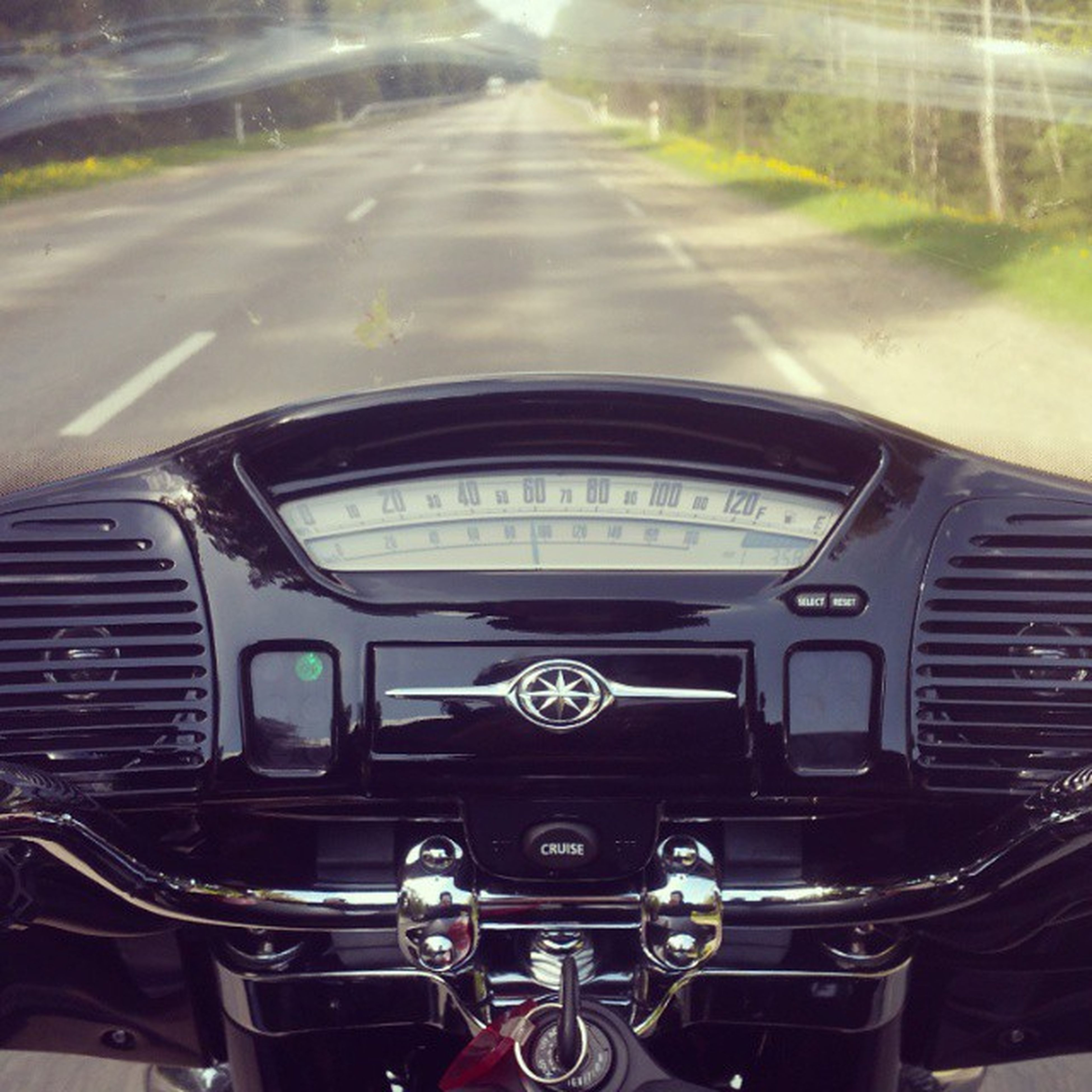 transportation, mode of transport, land vehicle, car, travel, vehicle interior, public transportation, headlight, windshield, part of, car interior, on the move, indoors, road, stationary, no people, journey, dashboard, train - vehicle, close-up
