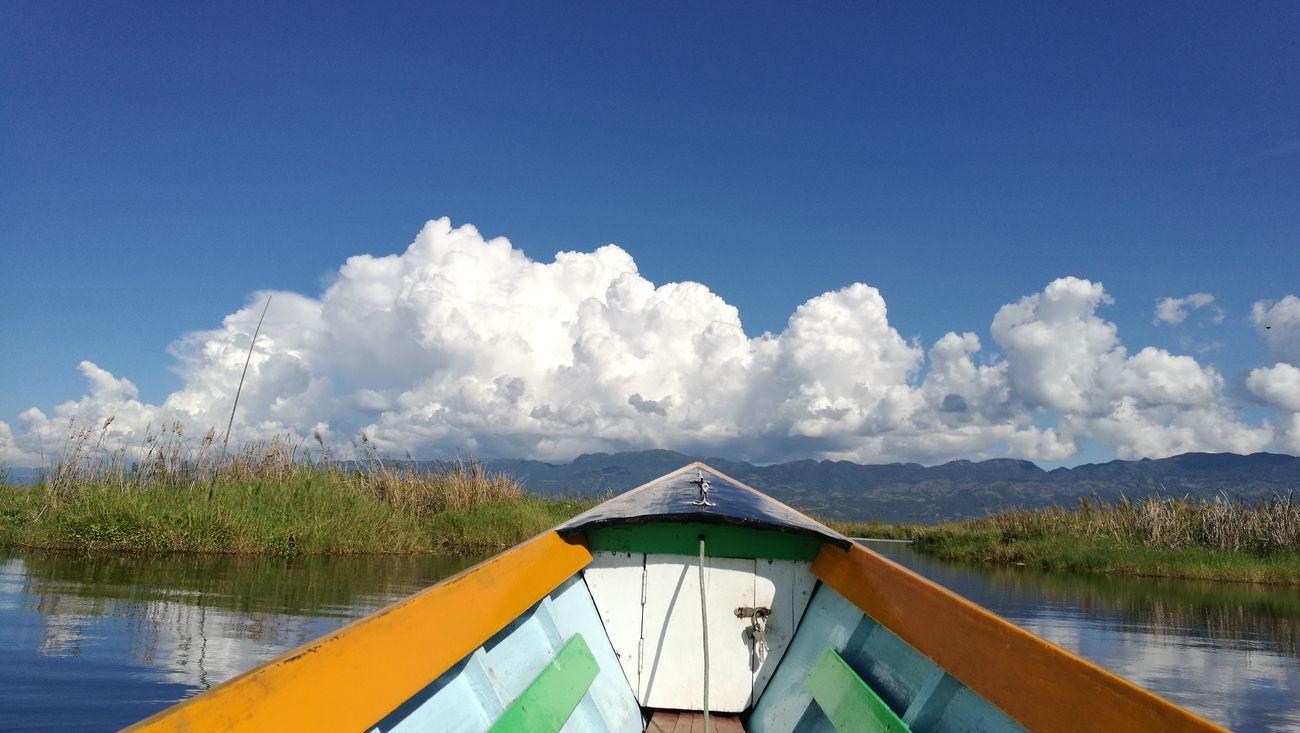 Blues... Nature Sky Blue Water Taywai Aye Chan Lake Inlay Lake Myanmar View Hidden Places Trip Traveling