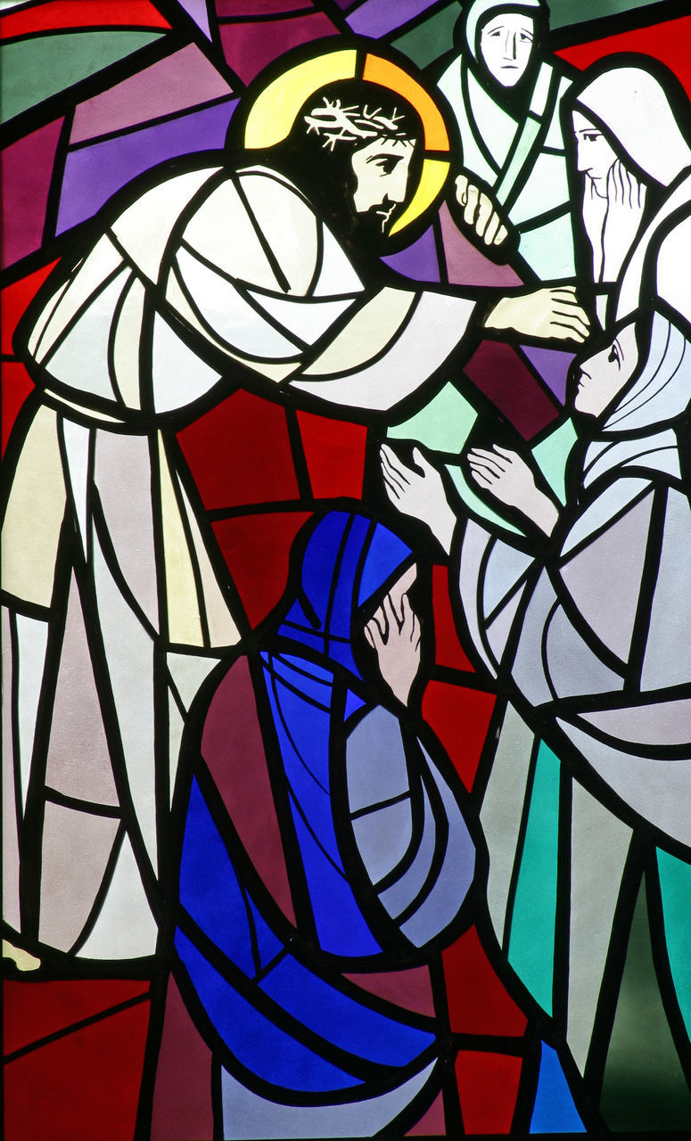 stained glass, multi colored, art and craft, pattern, full frame, indoors, close-up, no people, architecture, backgrounds, day