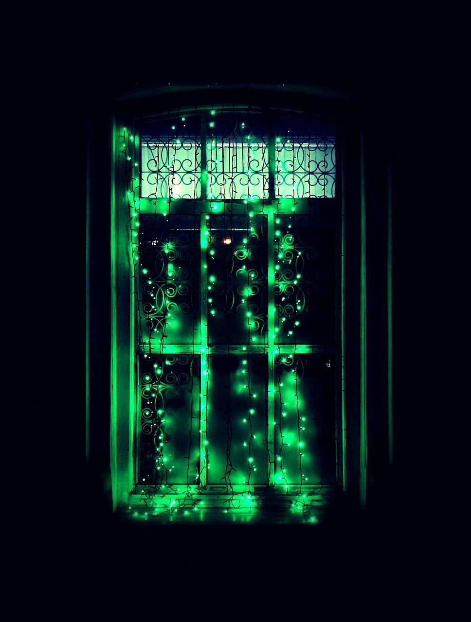 technology, illuminated, black background, green color, no people, indoors, close-up, day