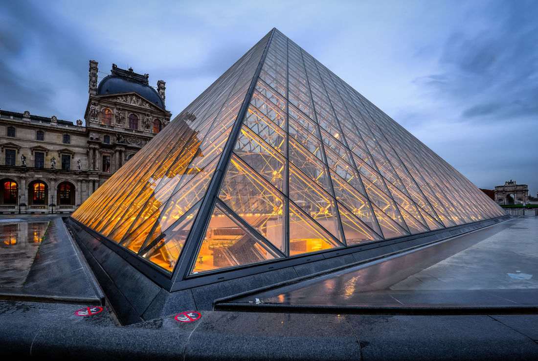 Pyramide Du Louvre Architecture Louvre NiSi Filters Nikon Paris Rainy Days Reflection Travel Architecture Building Exterior Built Structure City Cloud - Sky Clouds And Sky Day Huntergol Illuminated No People Old Buildings Outdoors Sky Travel Destinations