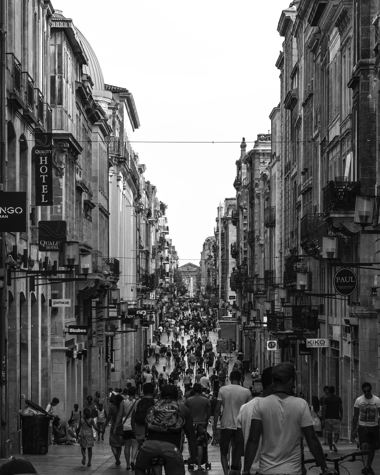 Architecture Blackandwhite Bordeaux Building Exterior Built Structure City Everyday Lives EyeEm EyeEm Best Shots EyeEm Gallery France Holiday Large Group Of People Lifestyle Outdoors Real People Shopping Shopping Street This Week On Eyeem Tourism Tourist Tourist Attraction  Vacation Walking Walking Around The City