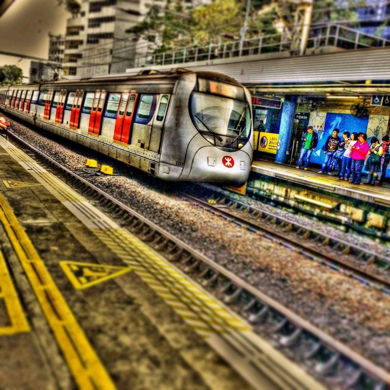 Approaching! Hdriphoneographer Photography Traveling Train Station Train Trainphotography Train_of_our_world People Photography Hdr Edit Awesome_view Transportation Travel Travel Destinations Traveler's Lifestyle Trains_r_the_best Hdr_gallery EyeEm Best Shots Picsart Eyeemphotography