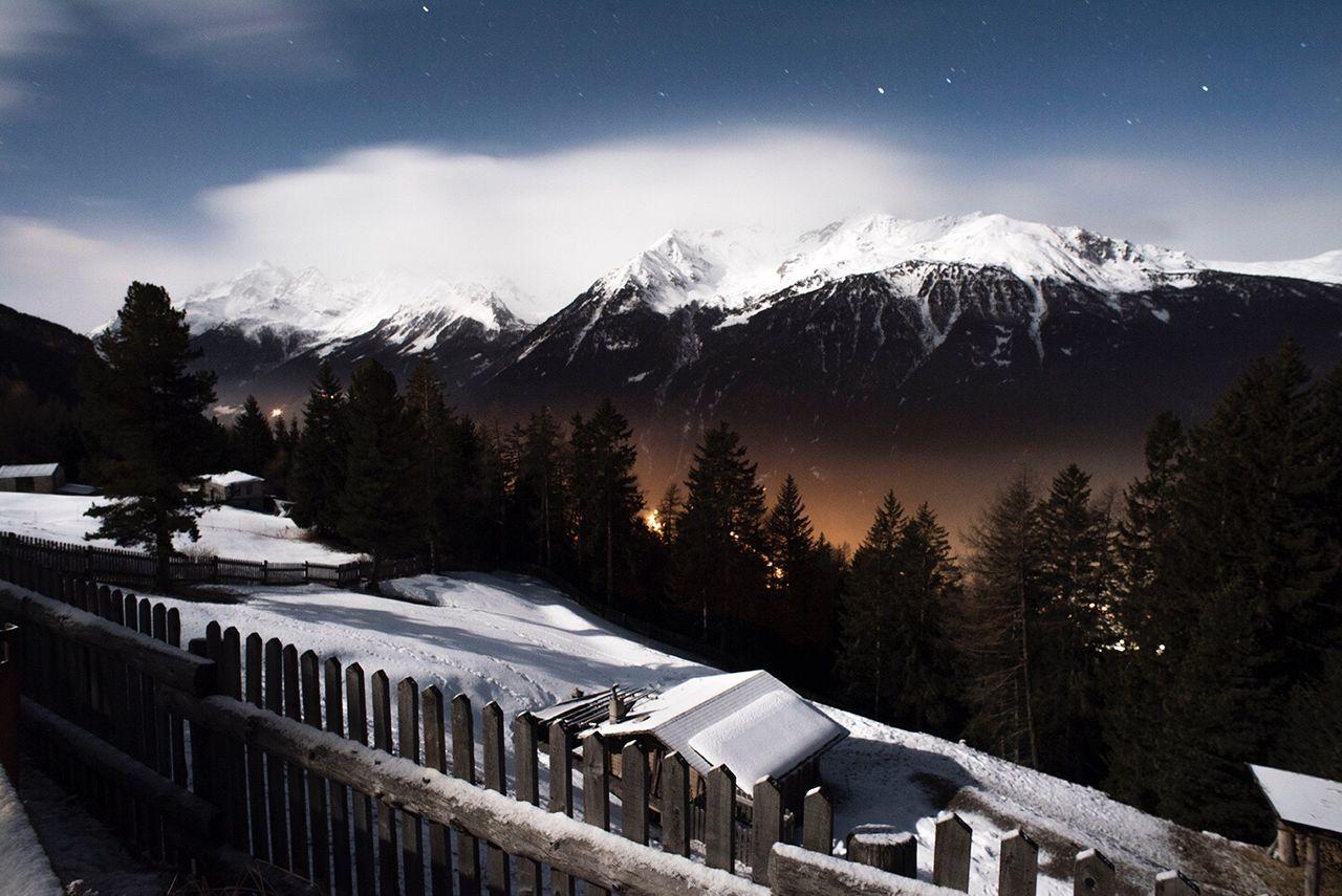 Montains    Alps Italy Bormio Night Snow 2000m Delacruzfotografia David De La Cruz