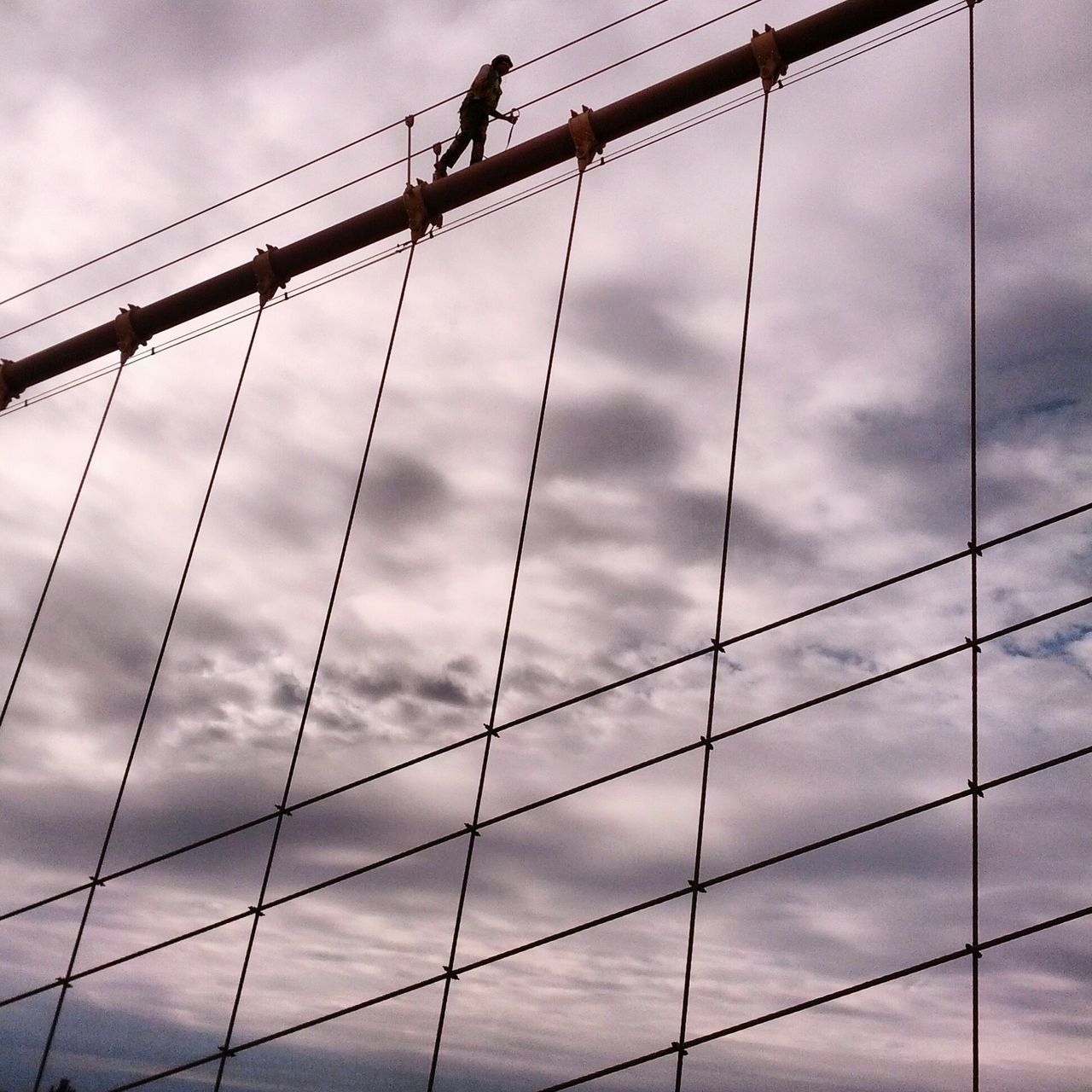 The Action Photographer - 2015 EyeEm Awards Brooklynbridge BridgePainter Newyorkcity Cloudy Newtothis Androidography Check This Out Clouds And Sky Cloudporn