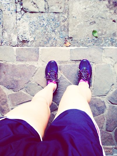 Going for a jog with my new pair of running shoes Shoes Jogging Travelingfoot Enjoying Life