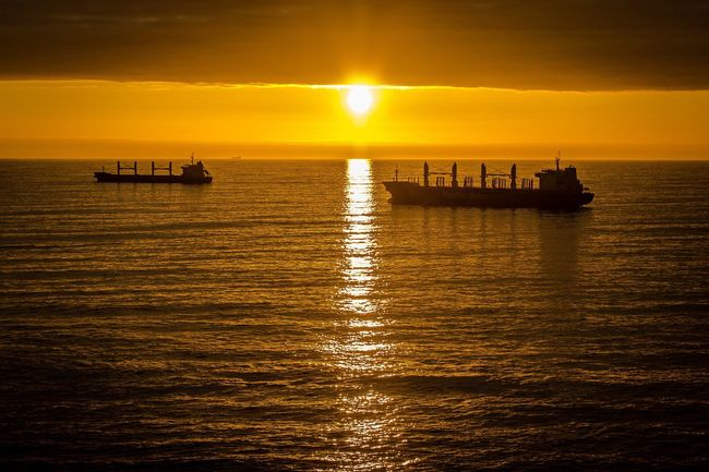 Sunset Water Sea Canonphotography Antofagasta Chile Transportation Scenics Horizon Over Water Sun Boat Tranquil Scene Waterfront Reflection Tranquility Mode Of Transport Beauty In Nature Orange Color Silhouette Rippled Idyllic Nature