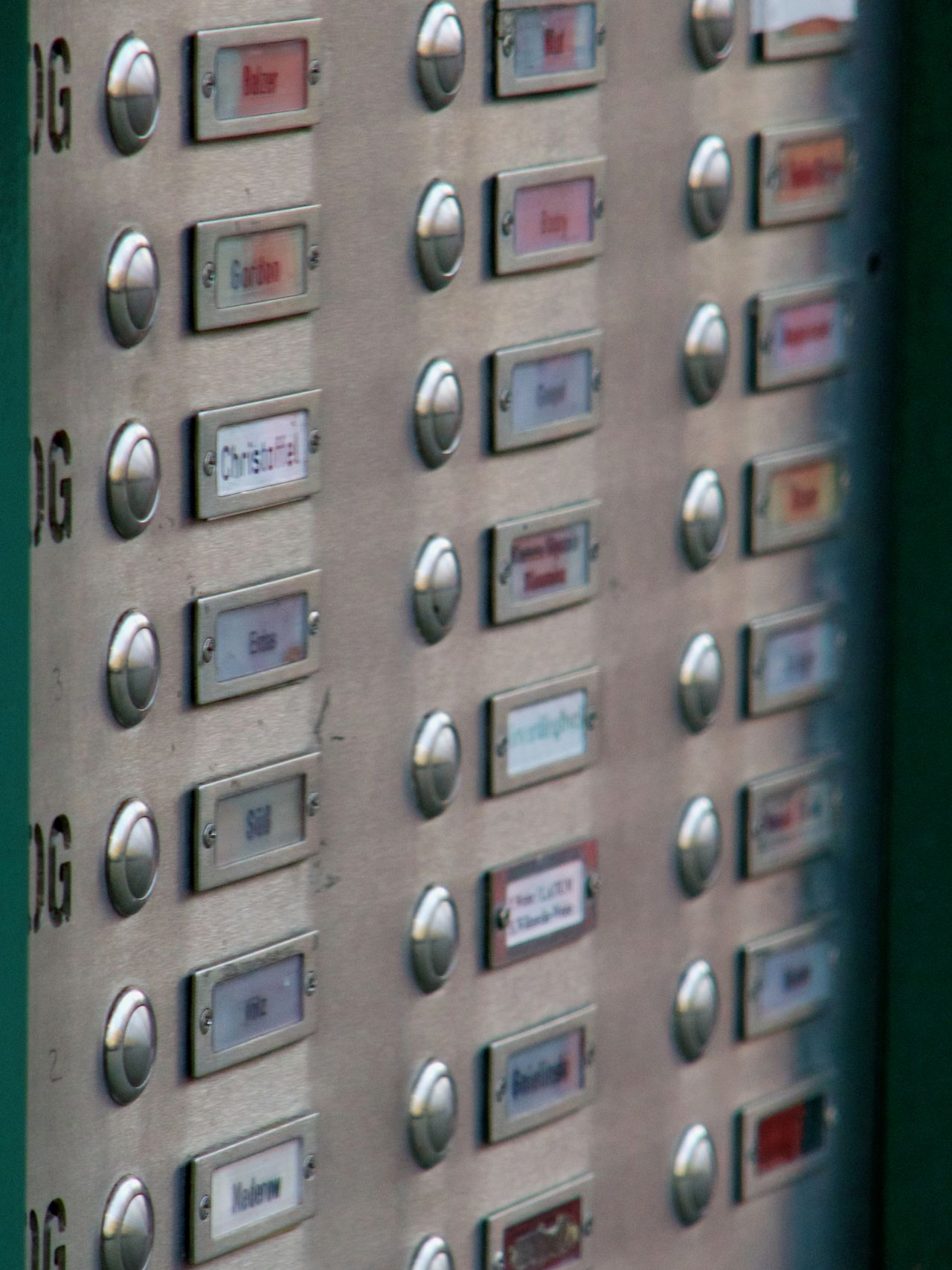 Many People Anonymus Building Exterior Buttons Close-up Control Panel Day Door Bells In A Row Living In The City Metal No People Outdoors Push Technology