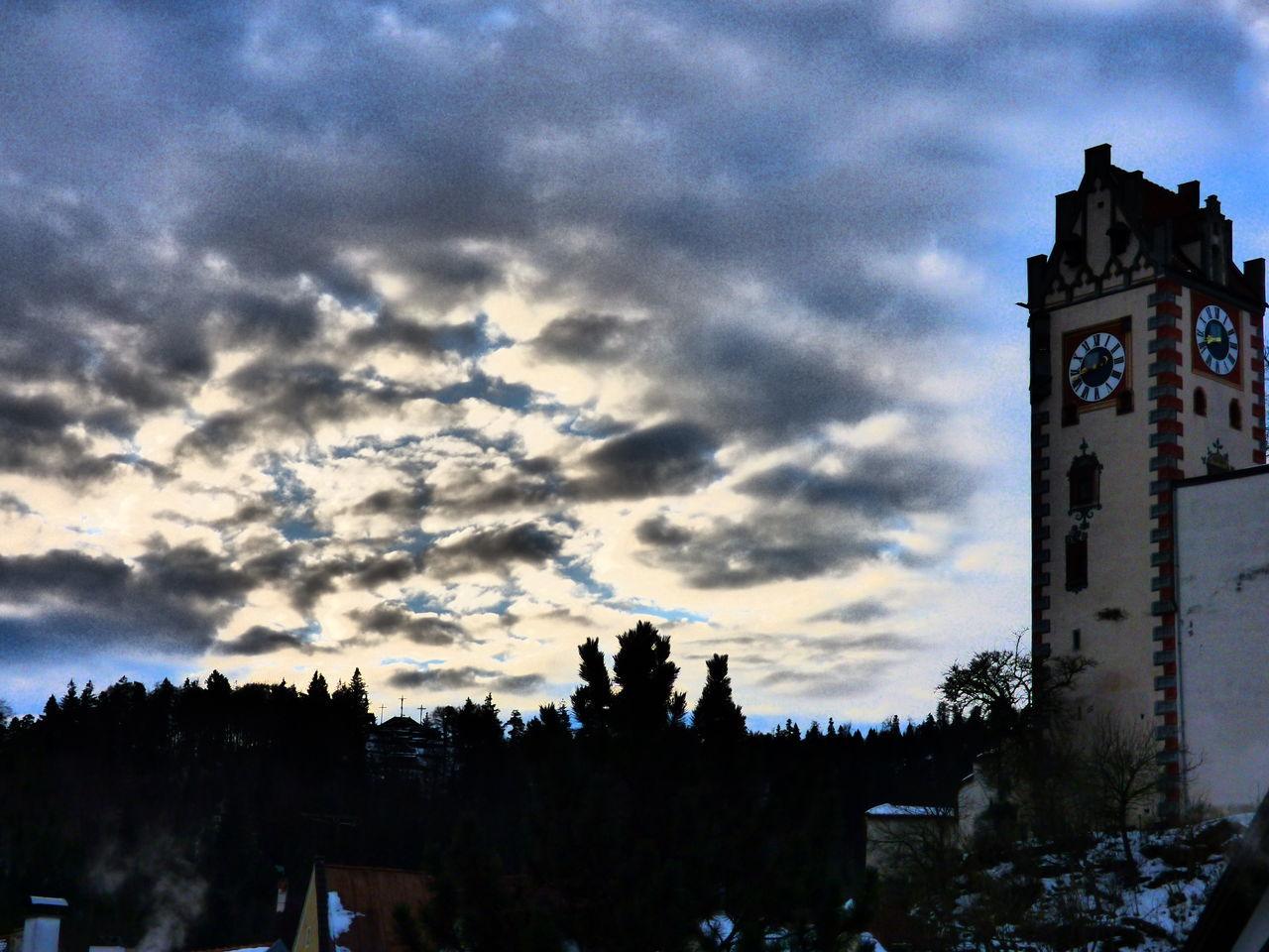 Baer Church Cloud Cloud - Sky Fuessen Füssen, Bayern, Deutschland Germany Hohen Schloss Sky
