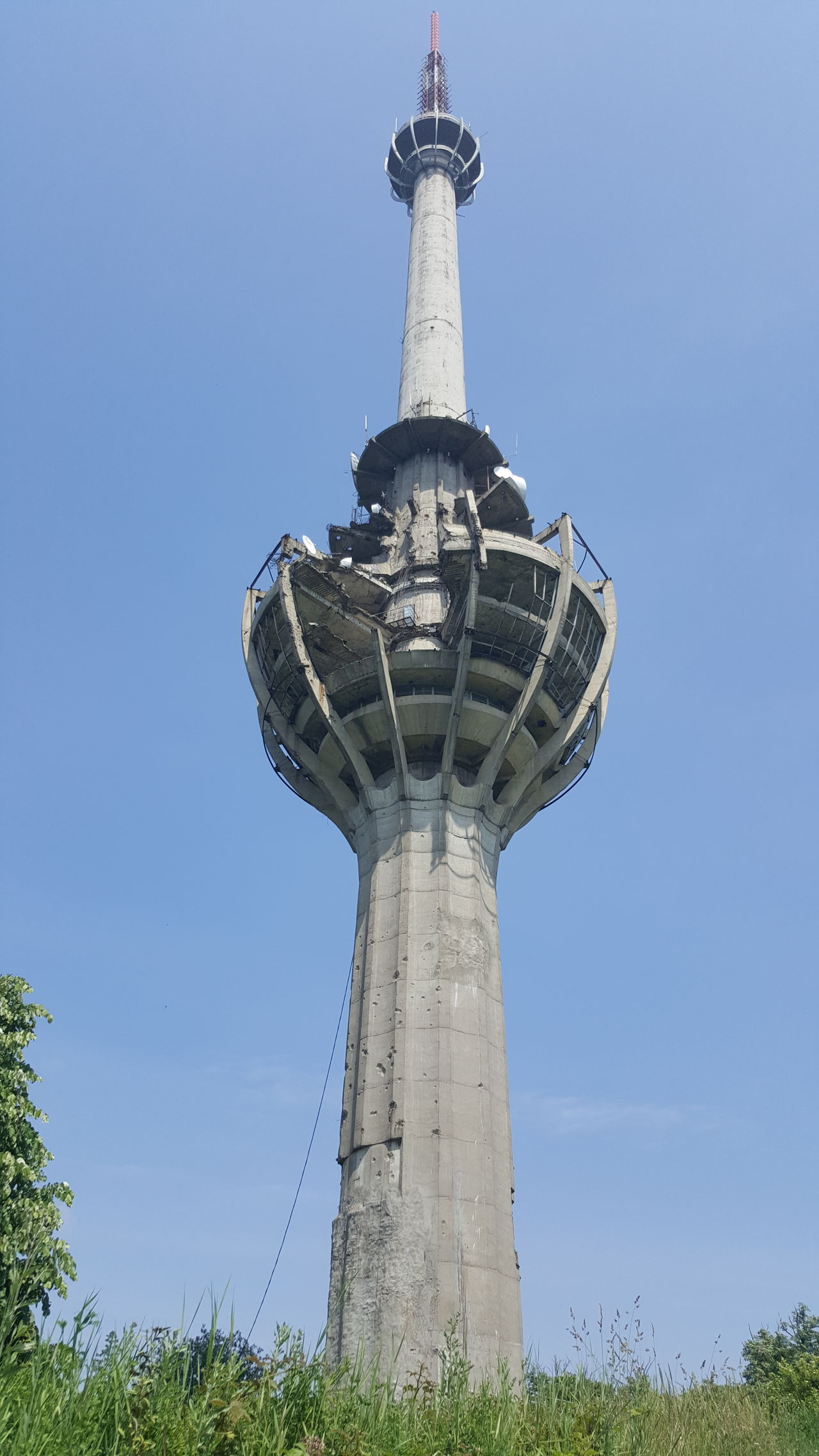 Fruška Gora Television Tower Nato Bombing Damaged Forrest Serbia