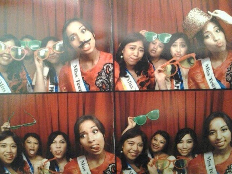 Photo booth with my pageant girls after runway modeling in DC :)
