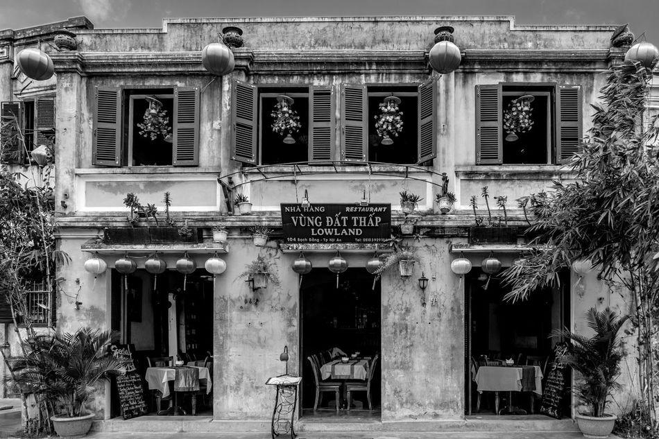 Lowland, Hoi An, Vietnam Architecture Vietnam FUJIFILM X-T2 Hoi An Outdoors Architecture Monochrome Monochrome Photography Black And White Street