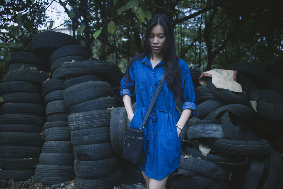 One Person Blue Front View Outdoors Beauty Evening Mood Girlfriend Long Hair Canon Eos M2 EOSM2 Amature Photography She Is My Girl Yangon, Myanmar Young Women Nature