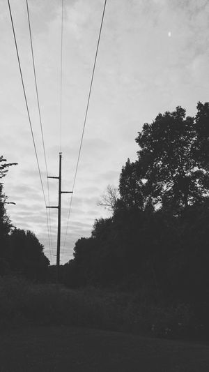 Power lines Silhouette Electricity