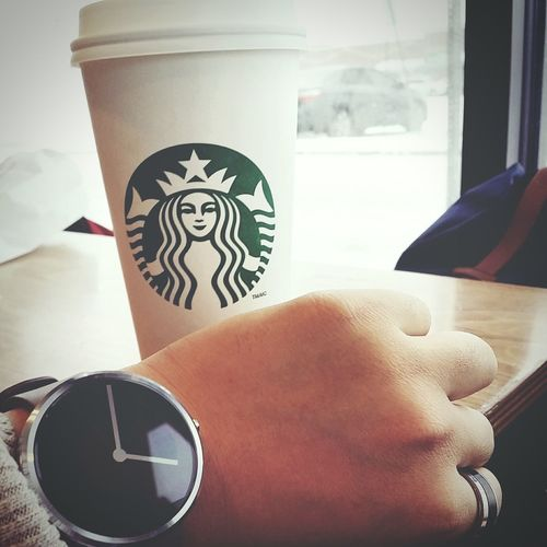 Finishing the day off with a venti... Coffee Drinking A Latte Studying Relaxing Moto360 Androidwear First Eyeem Photo