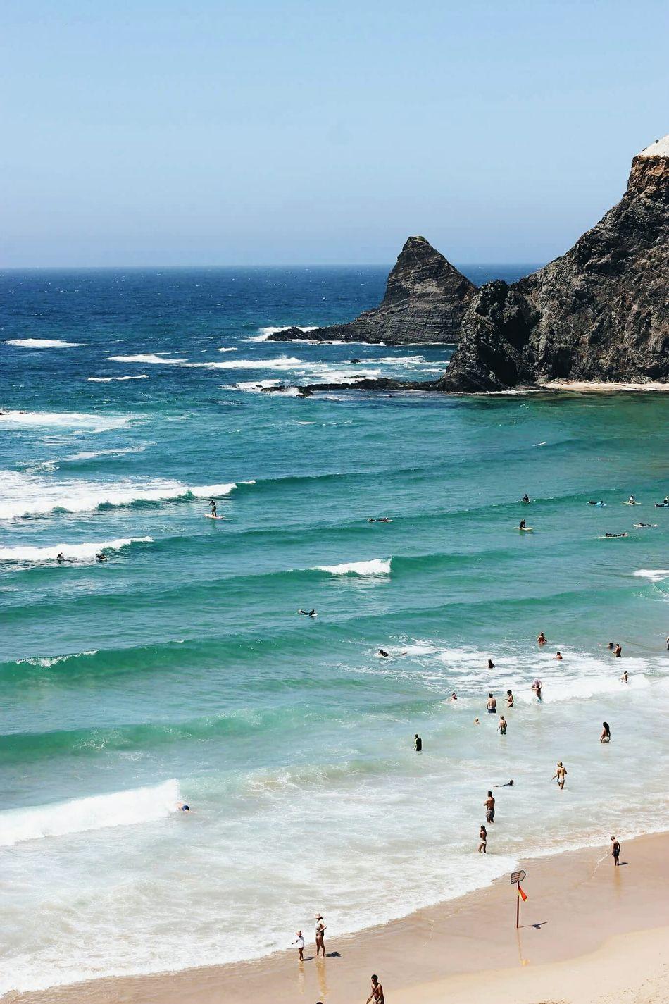You just can't go wrong with an ocean like this. Odeceixe Ocean Blue Shore Ocean Photography Beach Summer Views