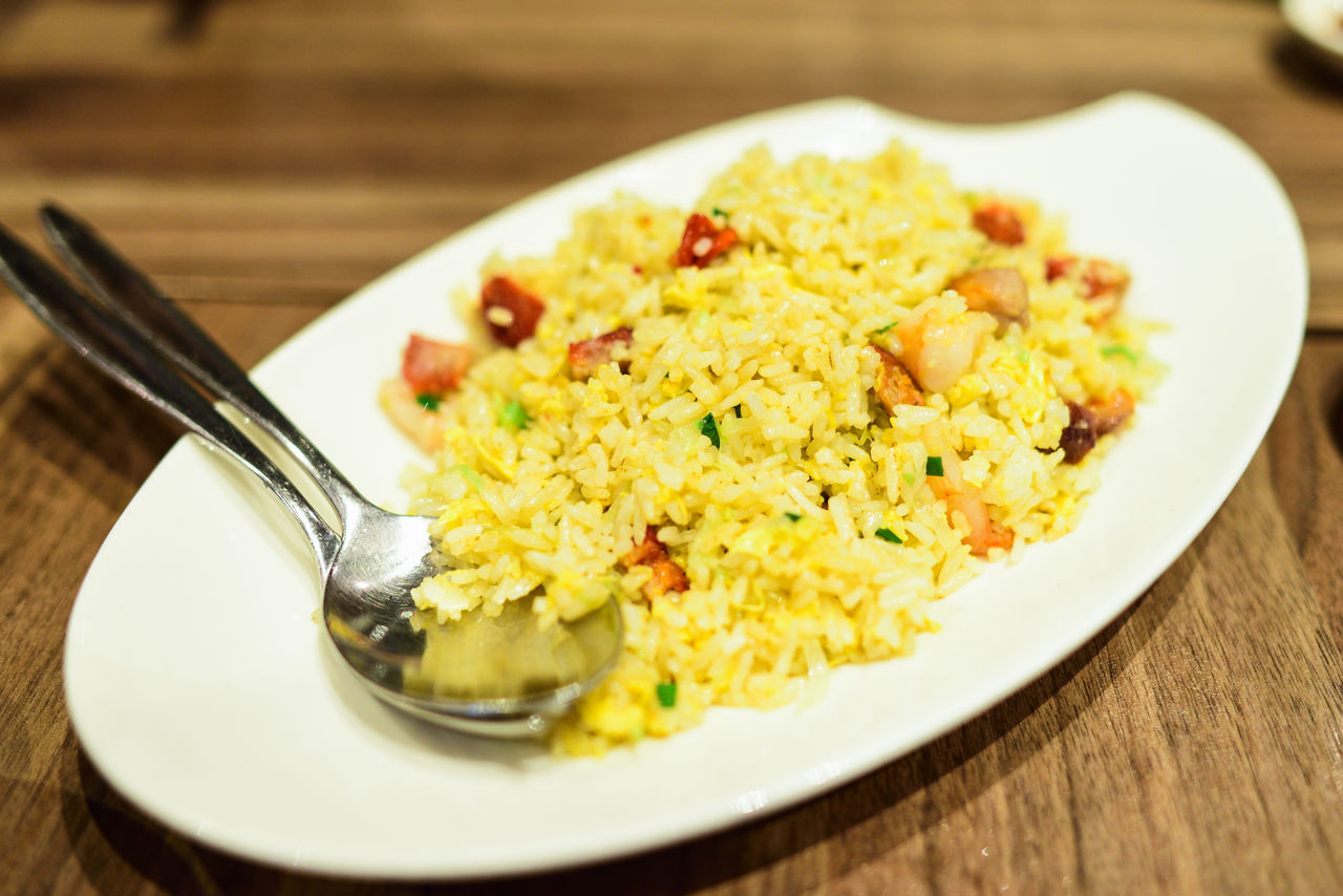 Yellow Fried Rice Food Fried Rice Plate Yellow Char Siew