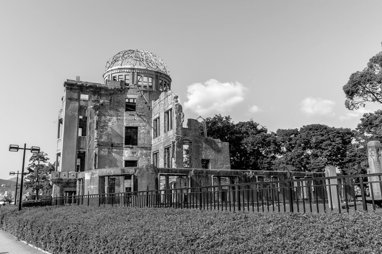 Architecture Architecture Black And White Building Building Exterior Built Structure Crime Scene Day Disaster Dome Famous Place History Japan Monochorme Monument No People Nuclear Blast Outdoors Ruined Sad Sky Travel Destinations The Architect - 2017 EyeEm Awards