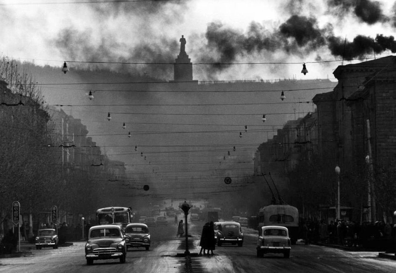 Armenia Yerevan Mashtoc's Avenue Sixties Retro Cloudy Mist