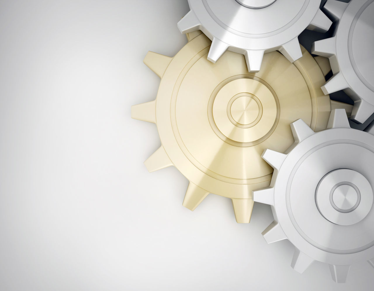 Business Close-up Concept Conceptual Gear Gold Gold Colored Idea Machinery No People White Color