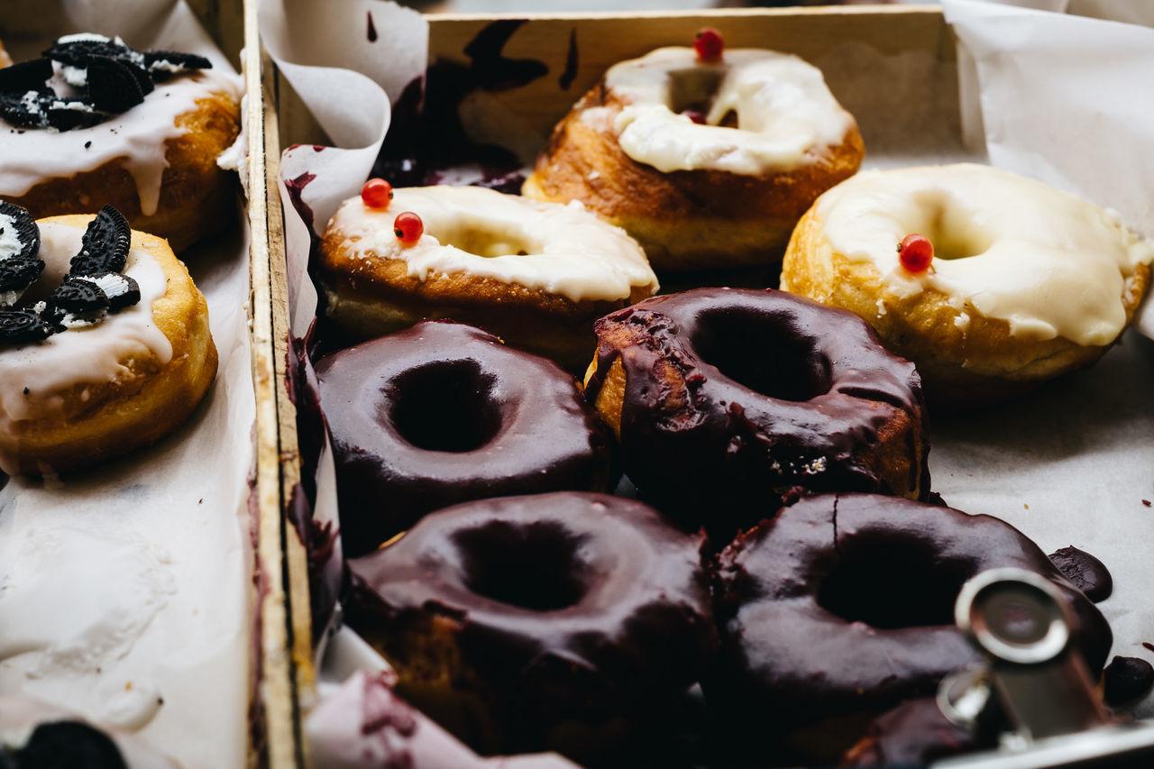 Close-up Dessert Donut Doughnuts Food Food And Drink Indulgence Still Life Sweet Food Table Temptation Treat