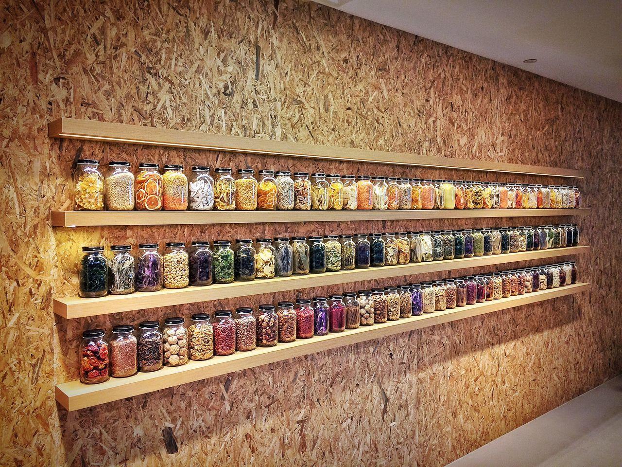 Beautifully Organized Shelf Jars  Spice Singapore