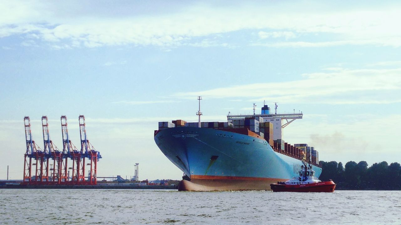 Beautiful stock photos of hamburg, Beach, Cloud - Sky, Commercial Dock, Container Ship