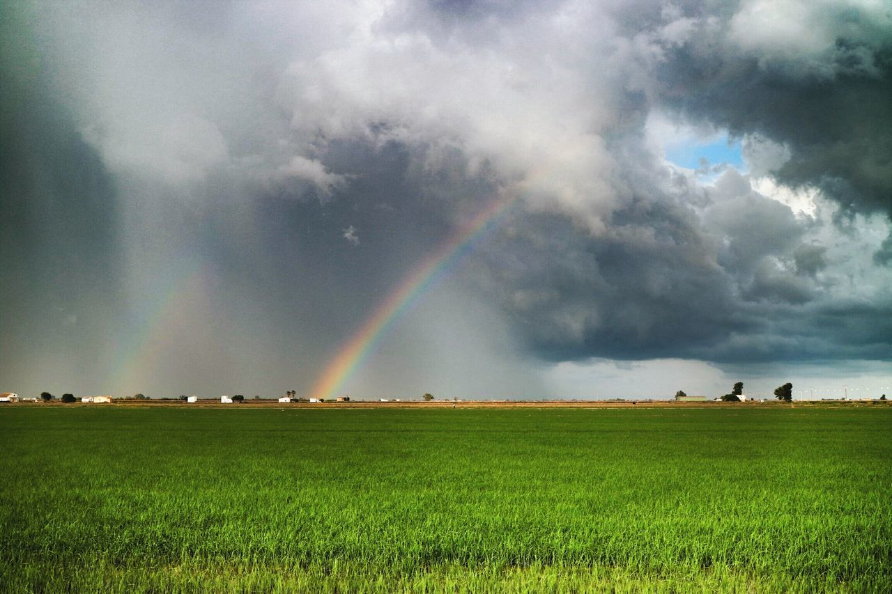 Rainbow Rainbows Double Rainbows Storm Clouds The Moment - 2015 EyeEm AwardsEye4photography  First Eyeem Photo Cloudporn Sky And Clouds Capture The Moment Landscapes With WhiteWall Great Outdoors - 2016 EyeEm Awards Feel The Journey