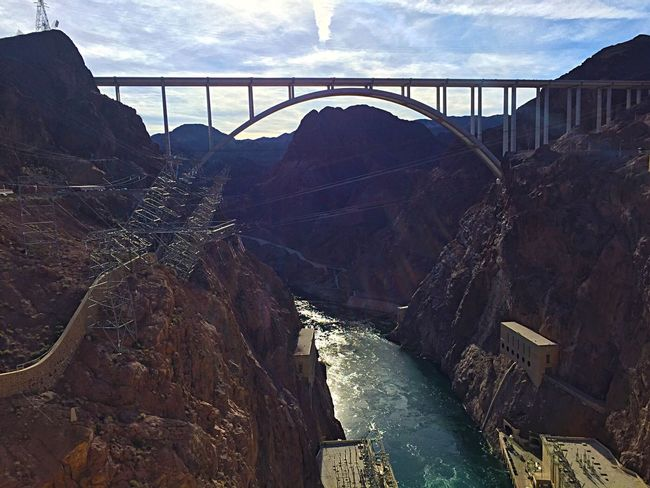 Bridges Engineering Feat Vacation Hoover Dam Colorado River Site Seeing Amazing View Historic Site