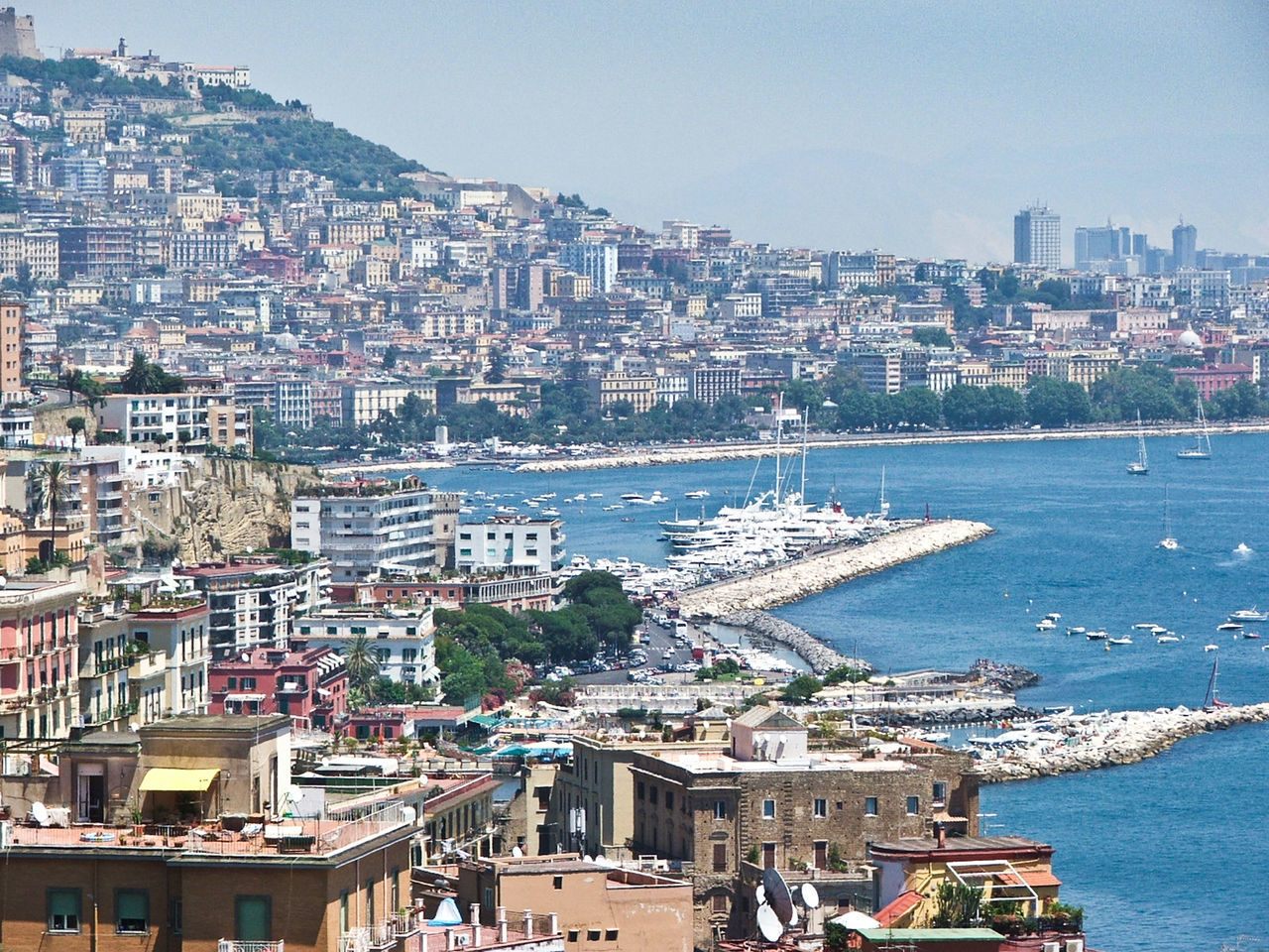 Coast Travel Destinations Beauty In Nature Naples, Italy Power In Nature Travel, Rocky, Bright, Sunshine, Nature No People Boat Water Beach Horizon Over Water Outdoors